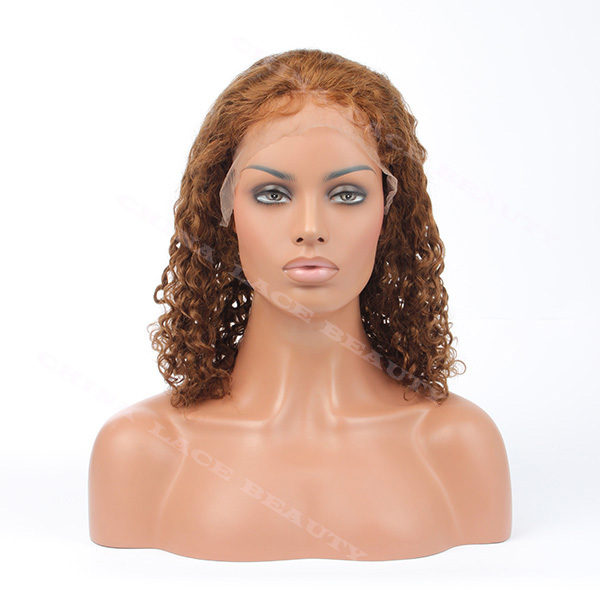 Lace Front Wig Indian Remy 10inches 4 Curly