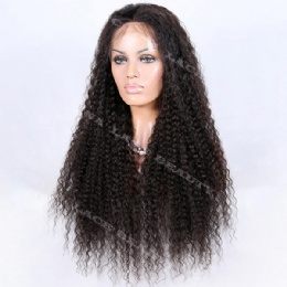 Full Lace Wig Indian Remy Tight Deep Wave