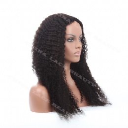 Glueless cap lace wigs 24inches kinky curl