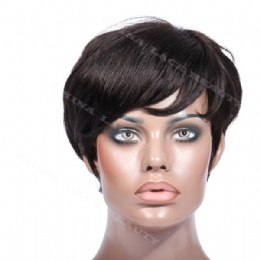 Machine weft made wigs short style