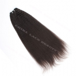 machine weft kinky straight