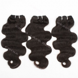 machine weft body wave