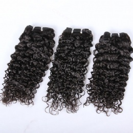 machine weft 10mm curl
