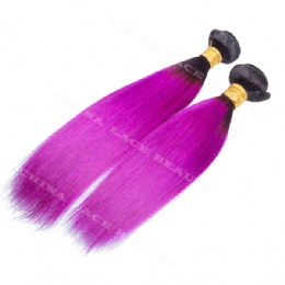 machine weft ombre black purple