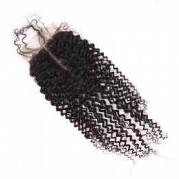 Top lace closure kinky curl