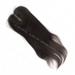 Silk Base Closure Natural Straight