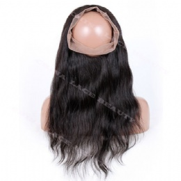 360° Lace frontal natural straight