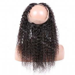 360° Lace frontal  kinky curl