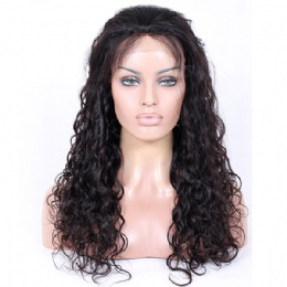 loose curly indian remy hair upgraded 360 anatomic lace wigs