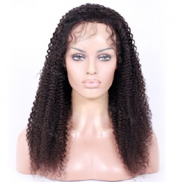 Pre Plucked Hairline 360 Lace Wig Brazilian hair Kinky Curl