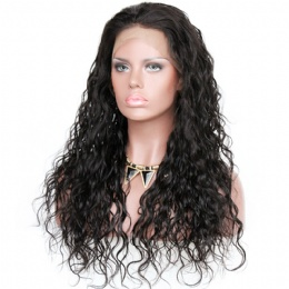 Loose curl brazilian virgin hair improved 360°anatomic lace wigs 150% thick density pre-plucked hairline
