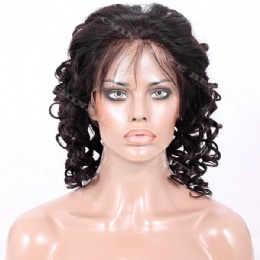 Full Lace Wig Indian Remy spiral curl
