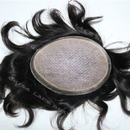 Silk Base Human Hair Toupees Hand Tied Hairpieces Hair Replacement with Natural lookging Hairline